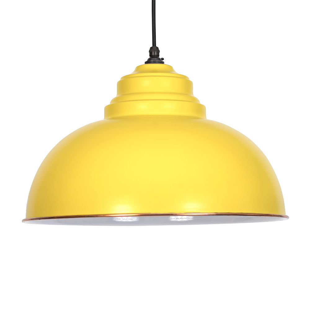 Yellow Pendant Light Hover To Zoom Endon Laughton Ye 1