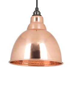 Brindley Pendant Light In Hammered Copper