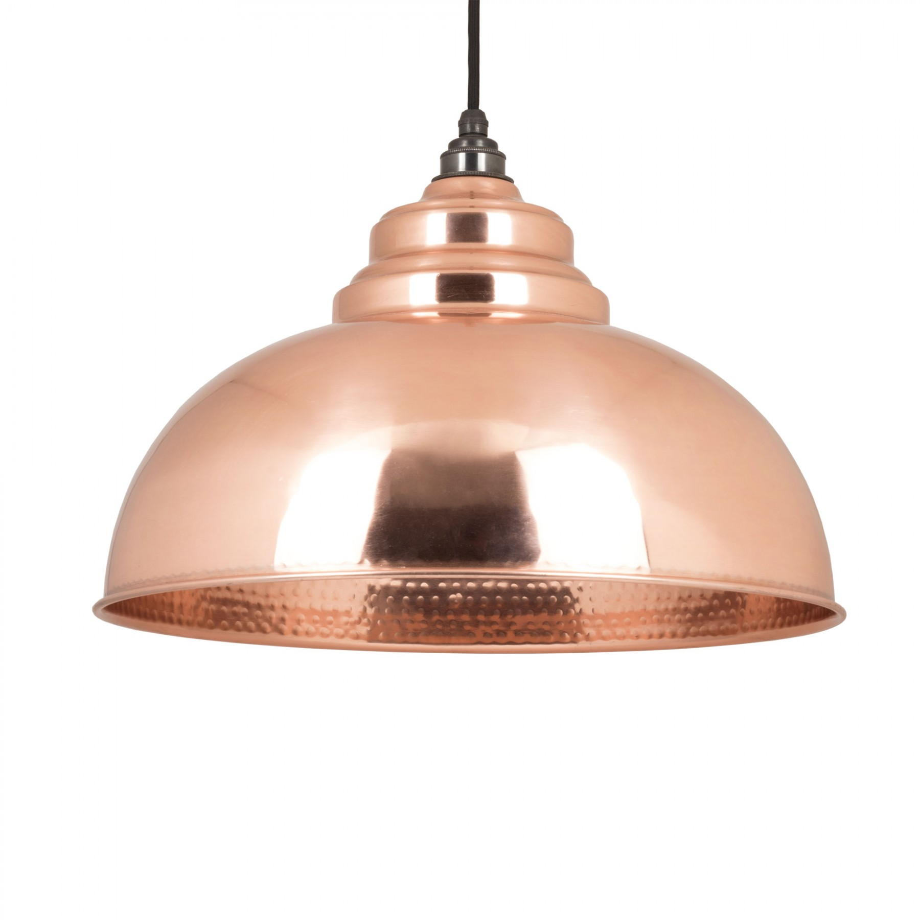 Harborne Pendant Light In Hammered Copper Period Home Style