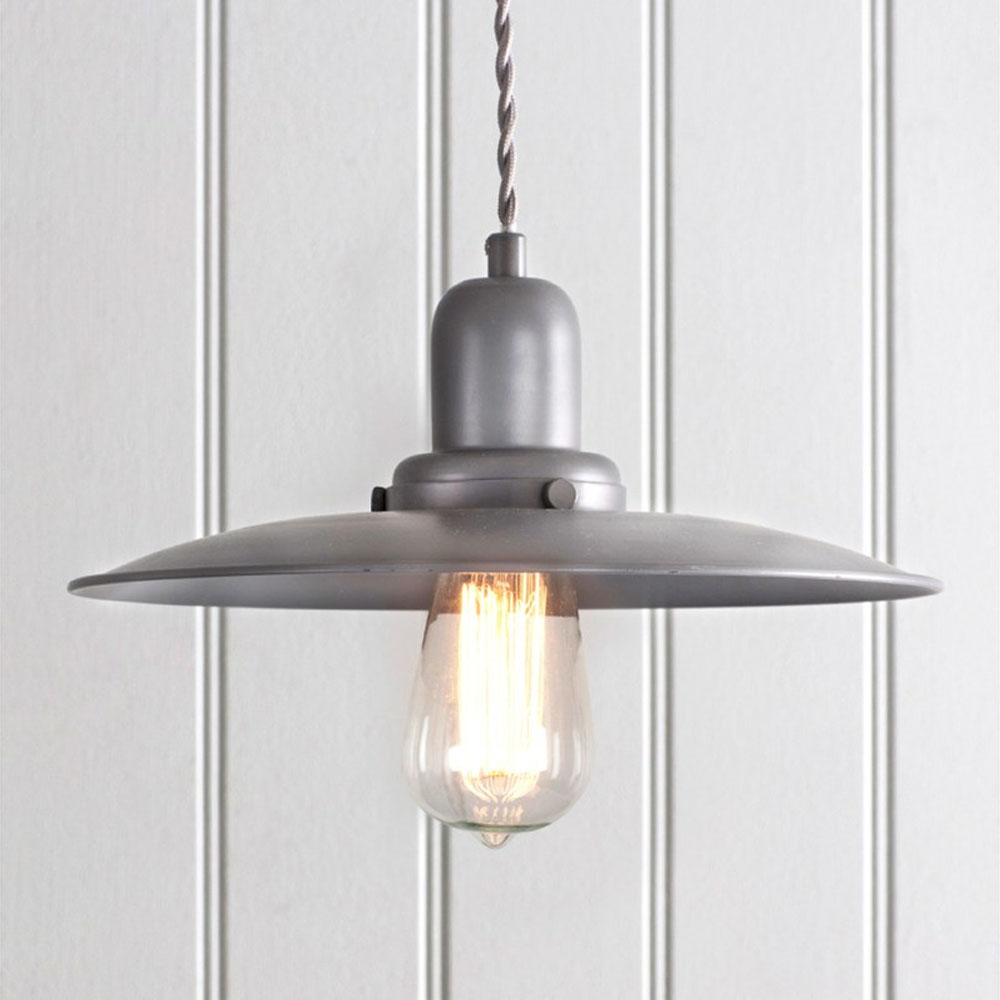 Hobury Pendant Light In Charcoal Decorate With Period Home Style
