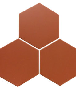 Red Unglazed Hexagonal Ceramic Tiles