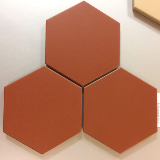 Red Unglazed Hexagonal Ceramic Tiles