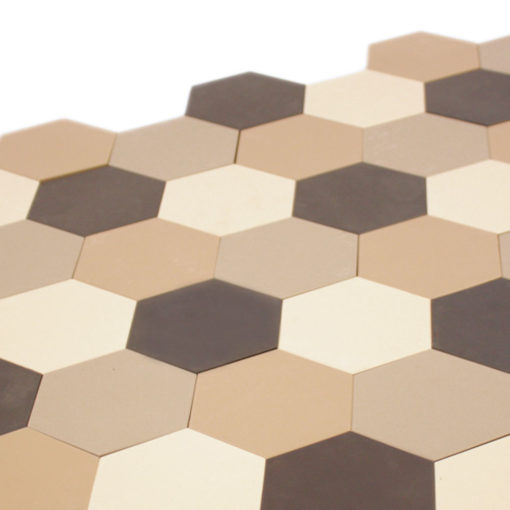 Unglazed Hexagonal Ceramic Tiles