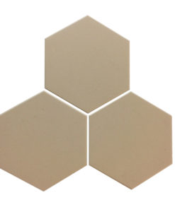 Pale Grey Unglazed Hexagonal Ceramic Tiles