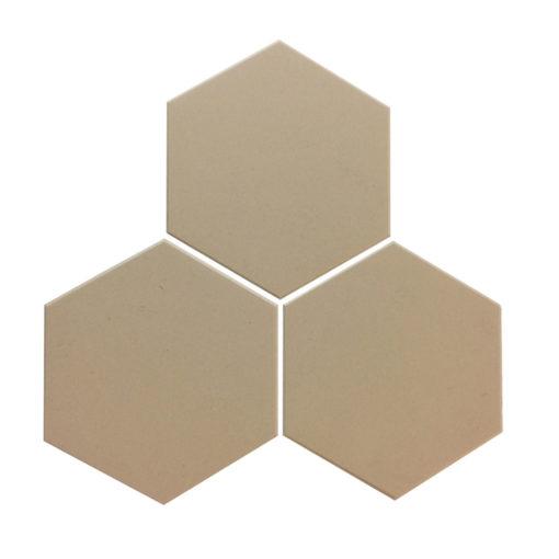 Pale Grey Unglazed Hexagonal Ceramic Tiles