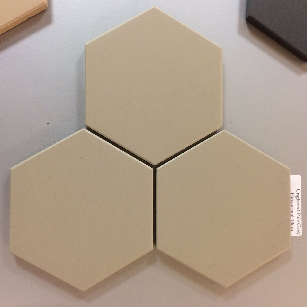 Pale Grey Unglazed Hexagonal Ceramic Tiles - From Period ...