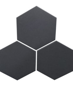 Black Unglazed Hexagonal Ceramic Tiles
