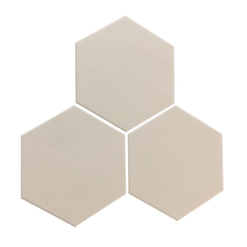 White Unglazed Hexagonal Ceramic Tiles