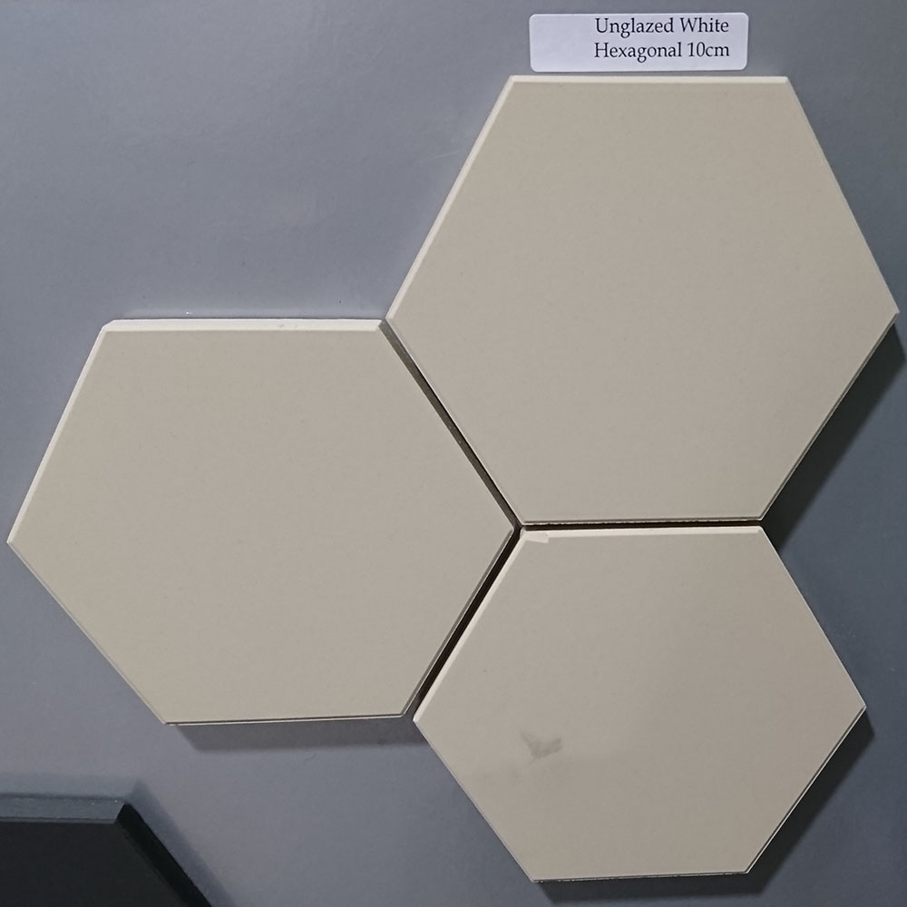 White Unglazed Hexagonal Ceramic Tiles - From Period Home ...