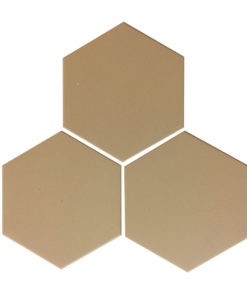 Linen Unglazed Hexagonal Ceramic Tiles