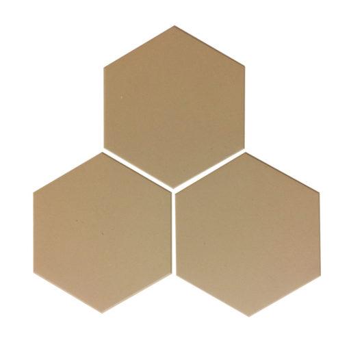 Linen Unglazed Hexagonal Ceramic Tiles