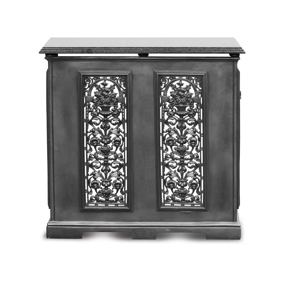 2 panel radiator cover black period home style - Cast iron radiator covers ...