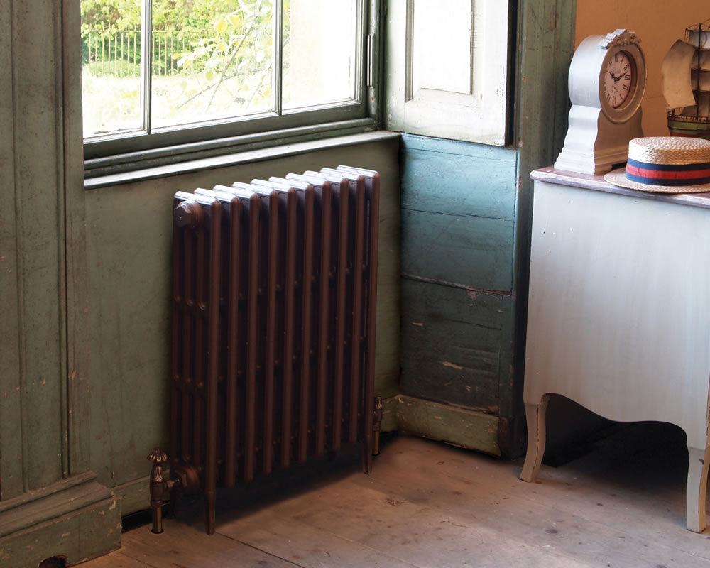 Victorian 4 Column Cast Iron Radiator 325mm Tall