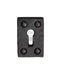 Tudor Black Iron Keyhole Escutcheon