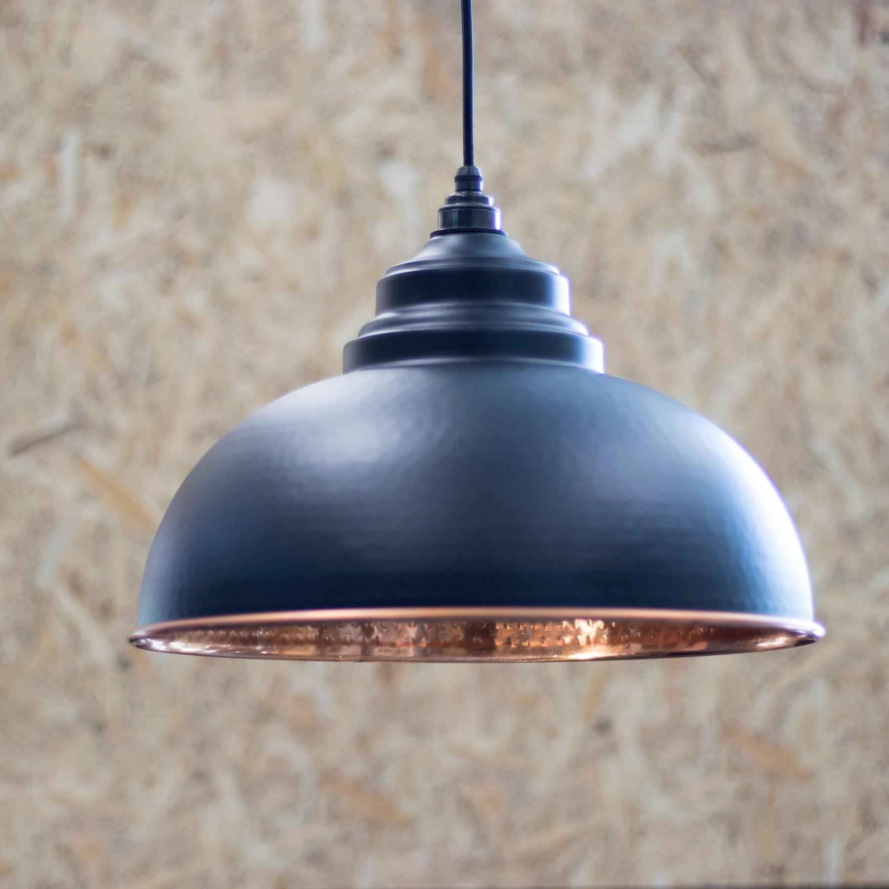 Black Hammered Copper Harborne Pendant Period Home Style
