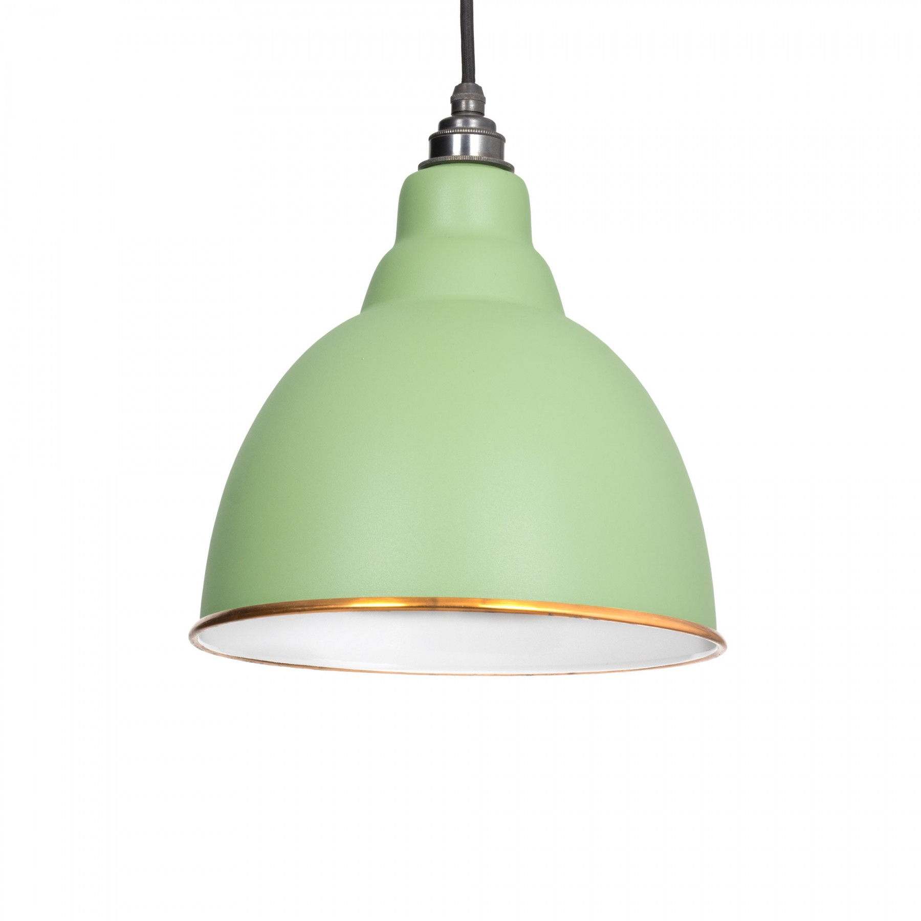 brindley pendant light in sage green period home style