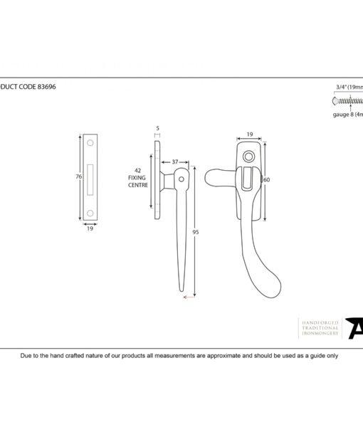 Polished Brass Peardrop Fastener