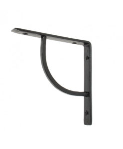 "Black Plain Shelf Bracket (6"")"