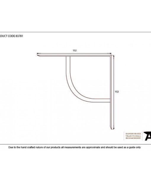 "Beeswax Plain Shelf Bracket (6"")"