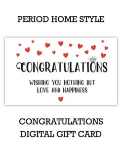 Period Home Style Congratulations Gift Card (Digital)
