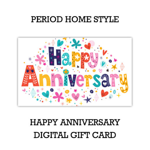 Period Home Style Happy Anniversary Gift Card (Digital)