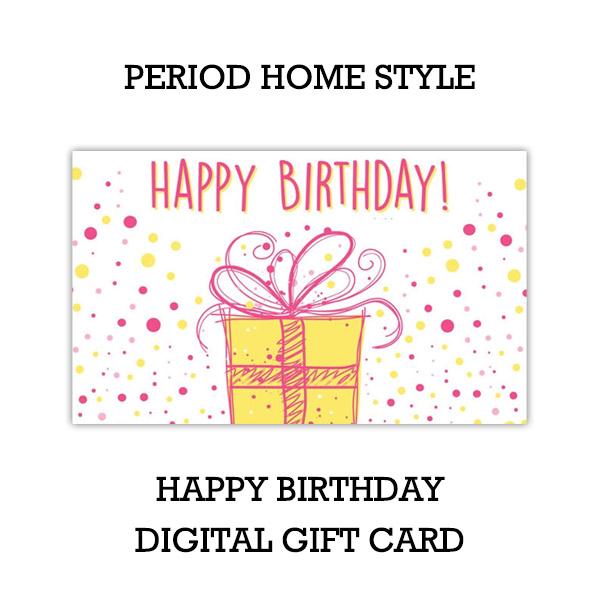 Happy Birthday Gift Card Design