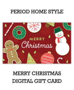 Period Home Style Merry Christmas Gift Card