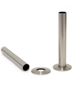 Castrads Satin Nickel Shrouds & Base Plates (130mm)
