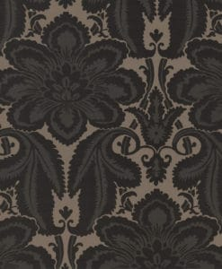 Little Greene Albemarle St Charcoal Wallpaper