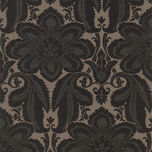 Little Greene Albemarle St Charcoal Wallpaper