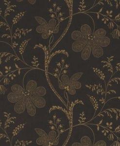 Little Greene Bedford Square Ebony Gold Wallpaper