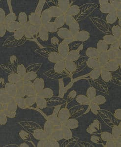 Little Greene Camellia Charcoal Wallpaper