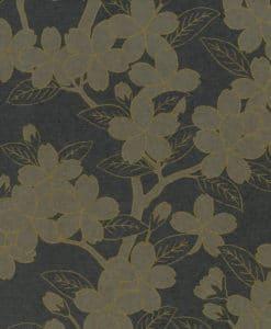 Little Greene Camellia Charcoal Wallpaper