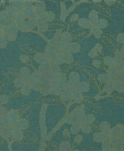 Little Greene Camellia Teal Wallpaper