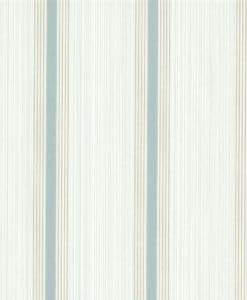 Little Greene Cavendish Stripe Brush Blue Wallpaper