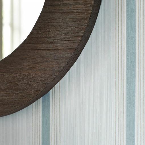 Little Greene Cavendish Stripe Brush Blue Wallpaper