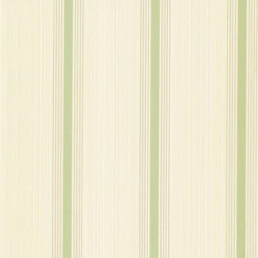 Little Greene Cavendish Stripe Brush Green Wallpaper