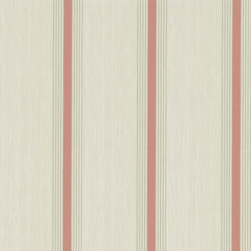 Little Greene Cavendish Stripe Brush Red Wallpaper