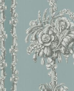 Little Greene Chelsea Bridge Archive Blue Wallpaper