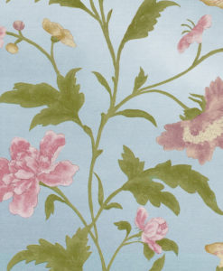 Little Greene China Rose Blue Lustre Wallpaper