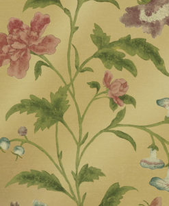 Little Greene China Rose Emerald Lustre Wallpaper