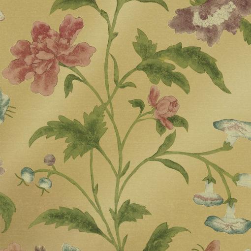 Little Greene China Rose Emerald Lustre Wallpaper
