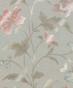 Little Greene China Rose French Grey Lustre Wallpaper