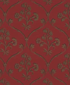 Little Greene Cranford Cherry Gold Wallpaper