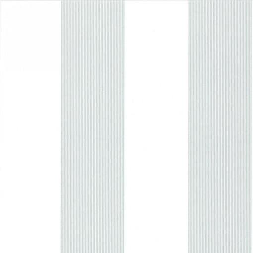 Little Greene Elephant Stripe Bright White Wallpaper