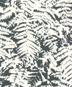 Little Greene Fern Off Black Wallpaper