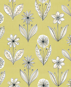 Little Greene Florette Acid Drop Wallpaper