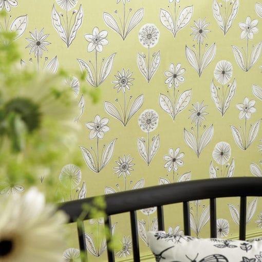 Little Greene Florette Acid Drop Wallpaper