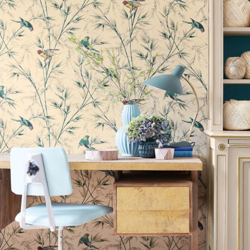 Little Greene Great Ormond St Parchment Wallpaper