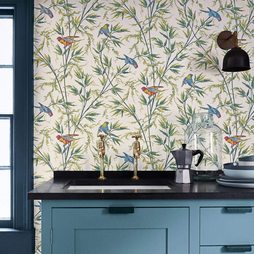 Little Greene Great Ormond St Tropical Wallpaper